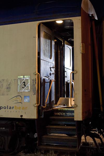Polar Bear Express has arrived in Cochrane from Moosone.