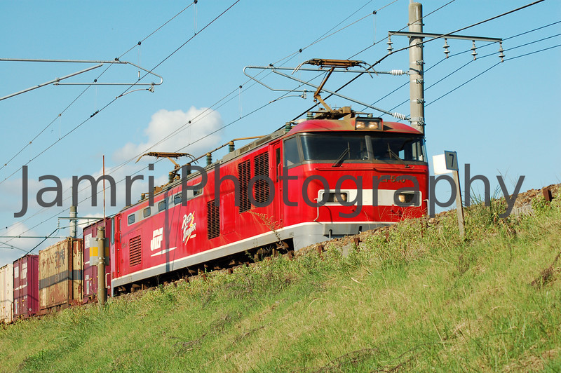 Red Thunder Freight Train, Omi-Imazu, Shiga-ken, Japan