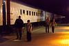 Polar Bear Express train arrived in Cochrane from Moosonee 2010 August 4that 12:40 a.m. (having left Moosonee on the 3rd)
