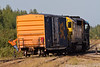 Ontario Northand Railway locomotives GP40-2 2200 and GP38-2 1805 with a boxcar in Moosonee.