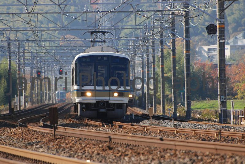 3 Commuter Trains, Nagaokakyo, Kyoto-fu, Japan