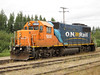 Ontario Northland Railway GP38-2 locomotive 1806 in Moosonee on freight service.