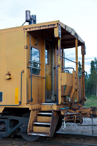 One end of caboose 123. 2010 August 18