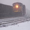 CSX Train in the Snow