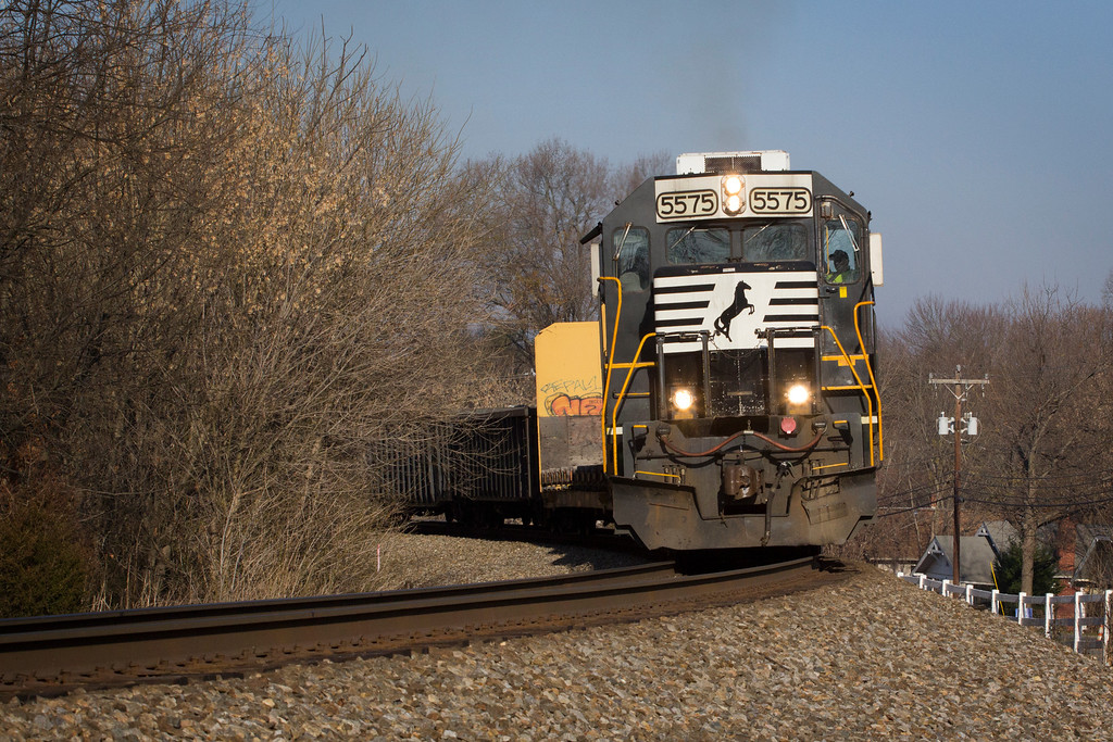 The Oyama to Newton local on the Norfolk Southern S-Line passes through Conover, NC.