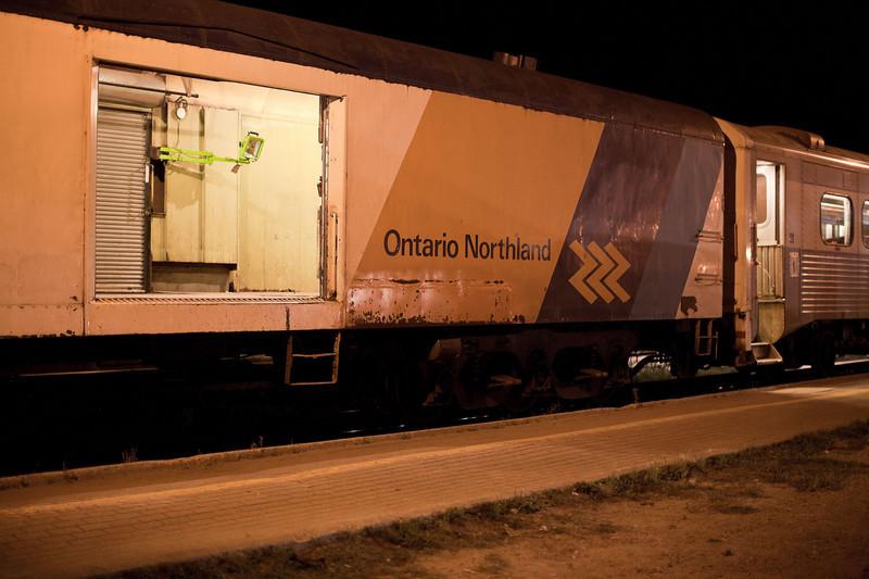 Polar Bear Express has arrived in Cochrane, good morning.