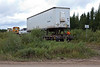 Freight coming off the wye in Moosonee.