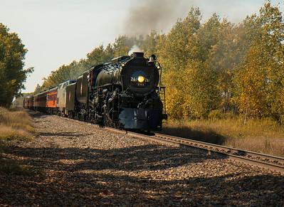 The 261 Locomotive along the North Shore of Minnesota