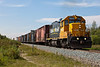Ontario Northland Railway GP38-2 locomotive 1800 leads the twice weekly freight train into Moosonee around noon on a hot Tuesday, 2010 August 31st.