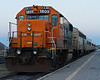 Northlander led by GP38-2 1809 about to depart Cochrane 2010 October 14th