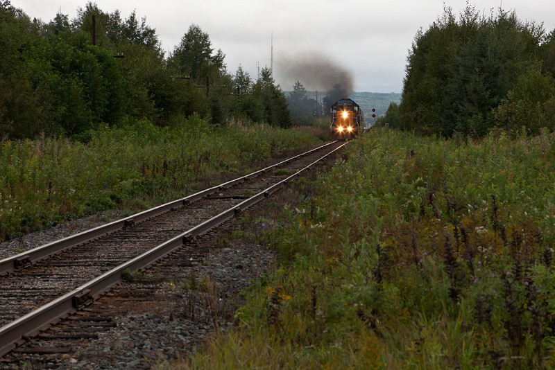 Northlander approaching Bryan's Road from Englehart Station.