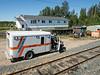 Ambulance at Otter rapids for train passenger.