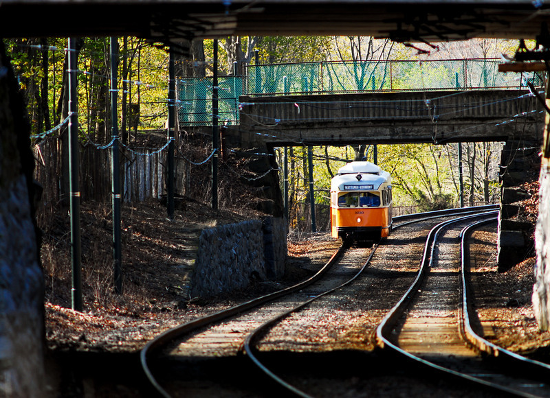 Spring on the Mattapan High Speed Line.