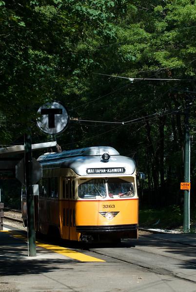 Capen Street Station on the Mattapan Line.