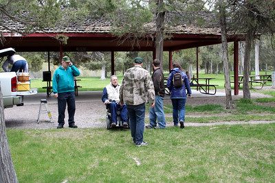 We went to the Bision Range on Mother's Day weekend. Uncle Mke, Aunt Yolanda, Uncle Tom, Grandma Peak, Mom, Dad, Chris, Lorinda, Anissa, Makenna, Patrick, & I all went. Here we are getting ready to have our picnic.