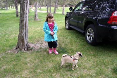 Anissa got to walk Hanna.