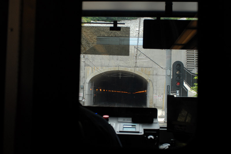 Weehawken Tunnel Southbound<br /> New Jersey Transit Hudson Bergen Light Rail Line