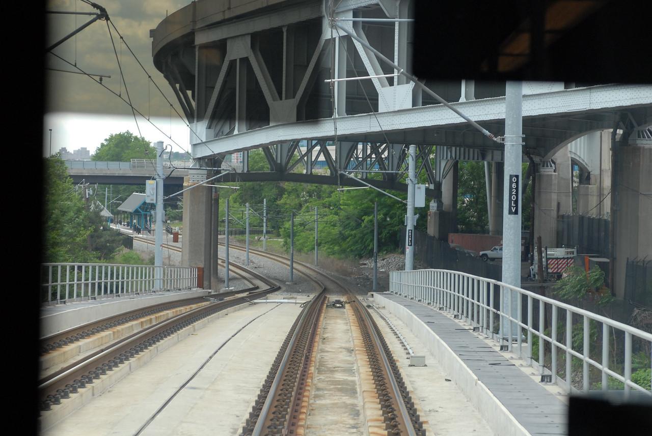 Viaduct Near Lincoln Tunnel Underpass<br /> New Jersey Transit Hudson Bergen Light Rail Line
