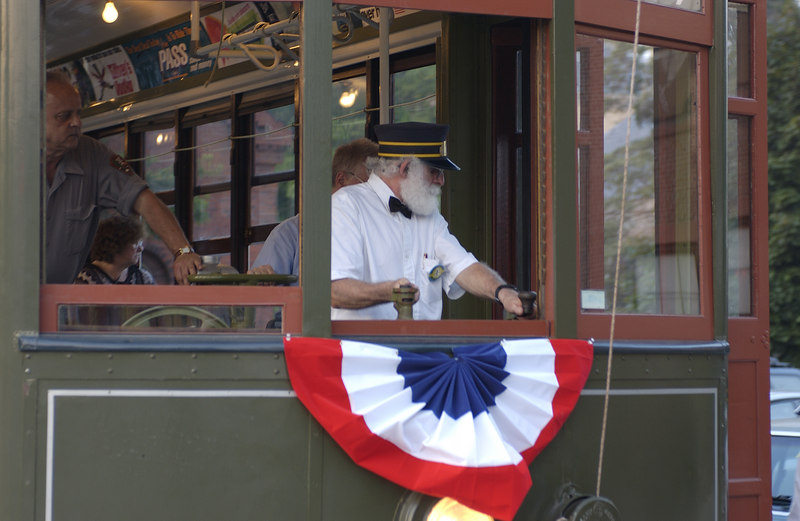 Operating New Orleans  Streetcar 966 at Lowell, Mass