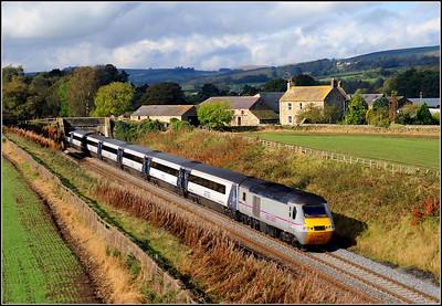 2014 10 11.09.42 Edinburgh-Kings Cross diverted ECML. service at Moralee.