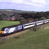 HST formed of powercars 43208 and 43311 pass Gilsland with 10:10 Newcastle to Edinburgh via Carlisle service, 15/9/2012.