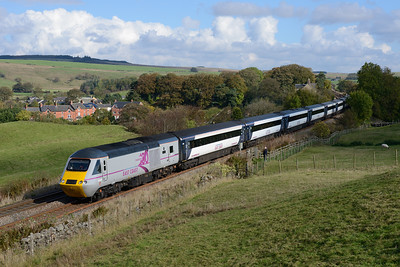 43300 leads the 08.45 Kings Cross-Edinburgh at Gilsland 12/10/14.