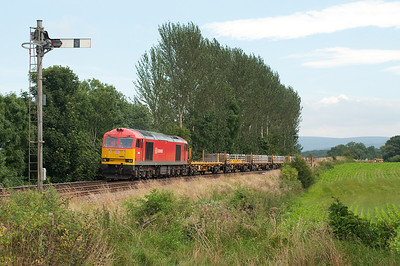 60054 waits to leave the possesion at Great Corby 12/8/12.