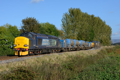 On Sunday 12/10/14 37259+37612 worked the Tyne Valley RHTT seen returning at Great Corby.