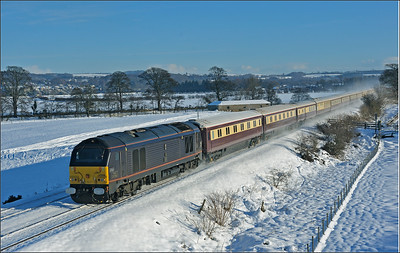 """2010 12 08 67006 on the """"Christmas Luncheon Northern Belle"""" charter from Darlington to Carlisle at Dilston."""