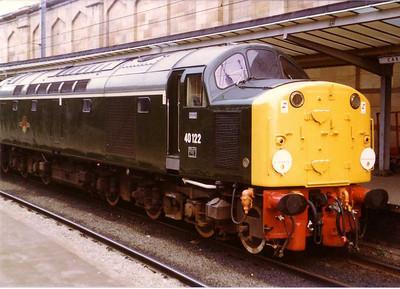 Class 40 40122 (D200), Carlisle, 20th August 1983