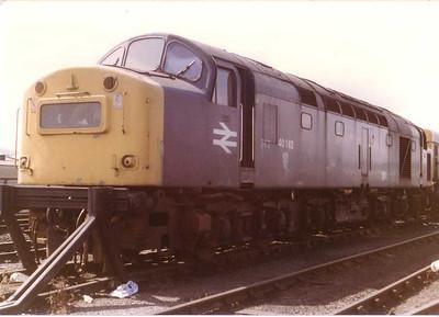 Withdrawn 40162 on  Haymarket depot Edinburgh, 16th Aug 1983