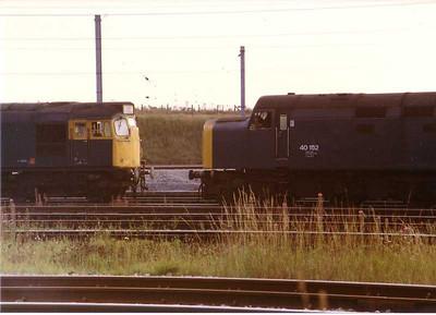 27038, 40152  Carlisle Kingmoor yard 18 August 1983.