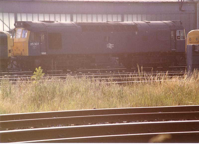 25307  Carlisle Kingmoor Yard  stabling point 18 August 1983.