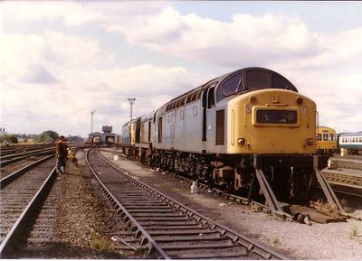 Withdrawn 40162 at  Haymarket depot Edinburgh, 16th Aug 1983