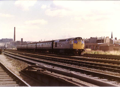 Class 27 passes Haymarket depot Edinburgh, 16th Aug 1983