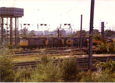 General view Carlisle Kingmoor depot 18 August 1983.