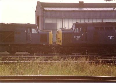 40152, 37090, Carlisle yard stabling point, 18 August 1983