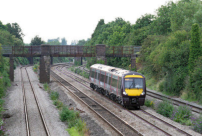 170105 heads through the cutting at Undy forming the 17.45 Cardiff Central to Nottingham. 12/07/2011