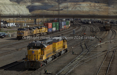 Stack arriving at Green River, Wyoming