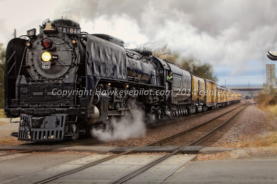 UP 50th Anniversary Special *44 backs into the Ave G Heritage Park Yard, Council Bluffs, Iowa