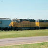 Union Pacific 1343 & HLCX 918 - Near Heron Lake, Minnesota - 2 July 2011