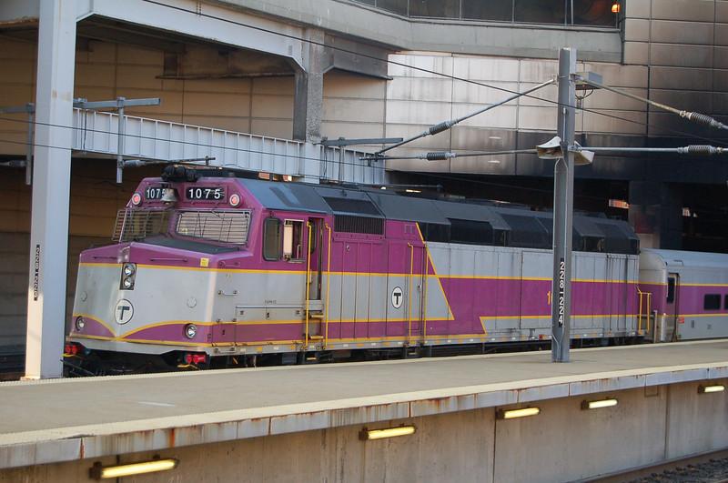 MBTA 1075 - Boston South Station, MA, USA - 13 June 2006