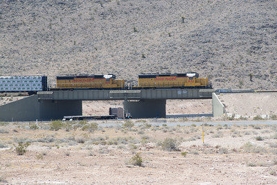 UP 1615 and 1632 switching at Apex, NV, over I-15