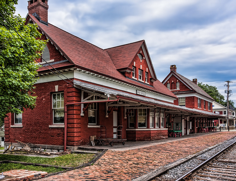The Union Bridge, Maryland Train Museum and Train Station.