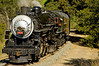 Southern Pacific 2472 chugs forward during one of nine photo run-bys in Niles Canyon