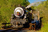 Southern Pacific 2472 steams across Farwell Bridge, Niles Canyon
