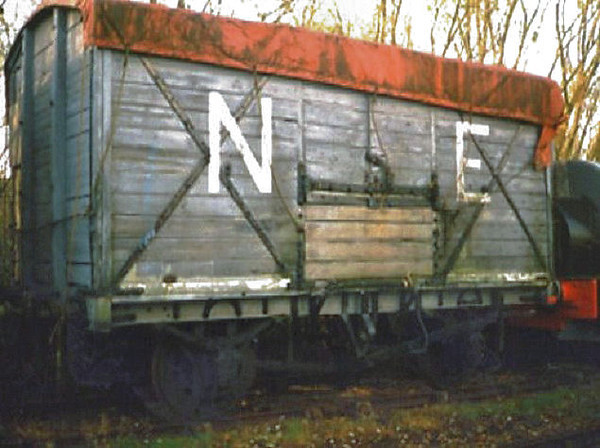 100684 NER Non Vent Van Plank - Chasewater Railway 01.11.96  John Robinson
