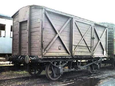 47253 LSWR Vent Van Plank  - Buckinghamshire Railway Centre 10.02.95  John Robinson