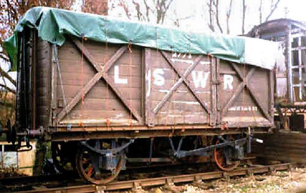 2773 LSWR Vent Van Plank - Bluebell Railway 01.02.96  John Robinson