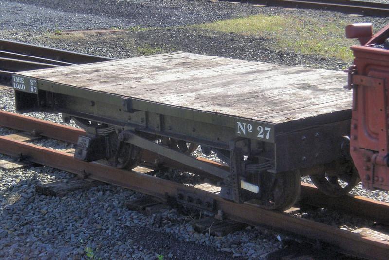 27 GWR 4w Flat - Vale of Rheidol Railway 30.08.12  John Morgan